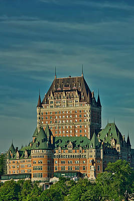 Photograph - Le Chateau Frontenac Vertical by Meta Gatschenberger