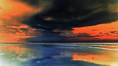 Photograph - Le Ciel Rouge 2 by Jorg Becker