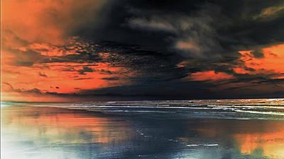 Photograph - Le Ciel Rouge 3 by Jorg Becker
