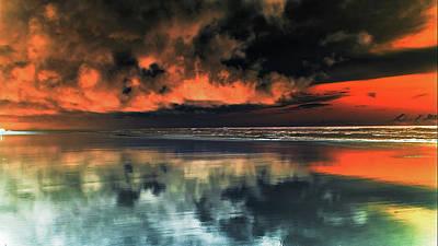 Photograph - Le Ciel Rouge 5 by Jorg Becker