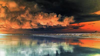 Photograph - Le Ciel Rouge 1 by Jorg Becker