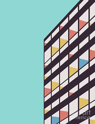 Digital Art - Le Corbusier by Florent Bodart