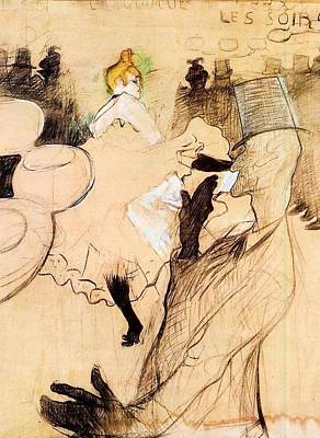 Comic Character Paintings - Le Goulue and Valentin, the Boneless One - 1891 - Musee Toulouse-Lautrec - Albi by Henri de Toulouse-Lautrec