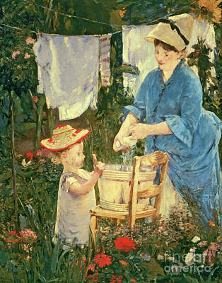 Painting - Le Linge, 1875 by Edouard Manet