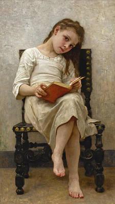 Painting - Le Livre De Prix by William-Adolphe Bouguereau