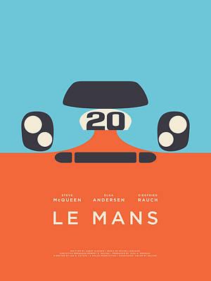Spring Wall Art - Digital Art - Le Mans Movie - B by Ivan Krpan