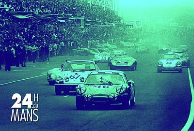 Digital Art - Le Mans Racing by Gary Grayson