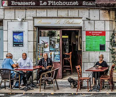 Photograph - Le Pitchounet Brasserie by Thomas Marchessault
