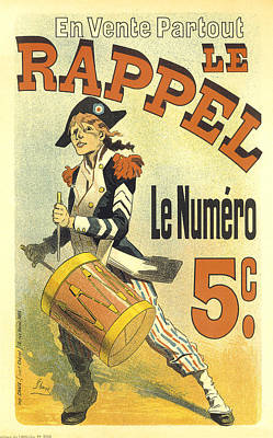 Painting - Le Rappel Drummer Vintage French Advertising by Vintage French Advertising