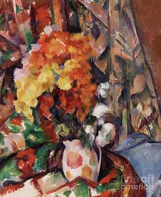 Painting - Le Vase Fleuri by Paul Cezanne