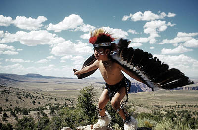 Photograph - Learning The Eagle Dance In Grand Canyon by Michael Ochs Archives