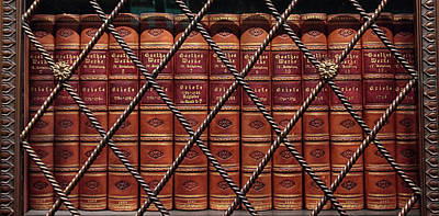 Photograph - Leather Bound Classics by Jessica Jenney