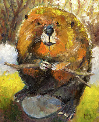 Painting - Leave It To Beaver by Mike Bergen