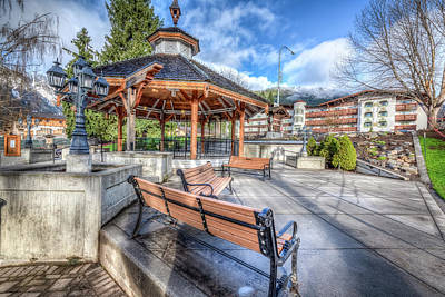 Photograph - Leavenworth Gazebo by Spencer McDonald