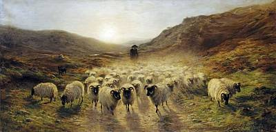 Joseph Farquharson Wall Art - Painting -  Leaving The Hills    by Joseph Farquharson