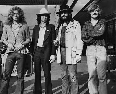Photograph - Led Zeppelin by Evening Standard