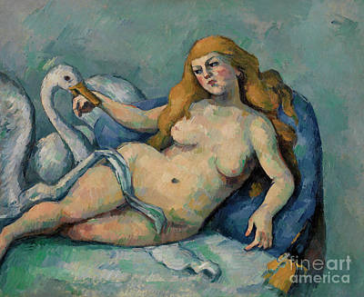 Painting - Leda And The Swan, Circa 1880 by Paul Cezanne