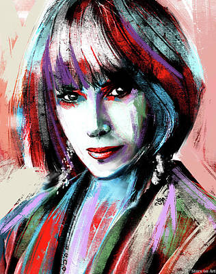 Curated Bath Towels - Lee Grant painting by Stars on Art