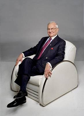 Photograph - Lee Iacocca Portrait Session by Harry Langdon