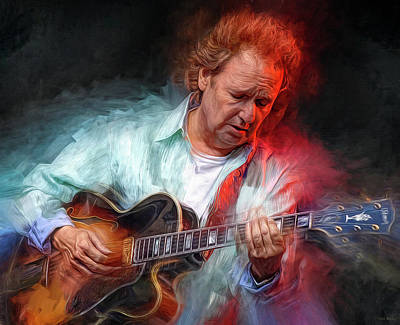 Jazz Mixed Media Royalty Free Images - Lee Ritenour Royalty-Free Image by Mal Bray