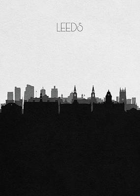 Digital Art - Leeds Cityscape Art by Inspirowl Design