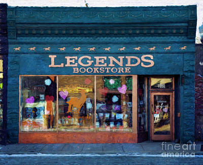 Photograph - Legends Bookstore by Craig J Satterlee