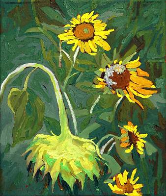 Painting - Legion Of Sunflowers by Phil Chadwick