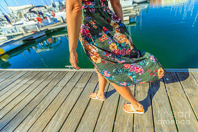 Photograph - Legs On Wooden Jetty by Benny Marty