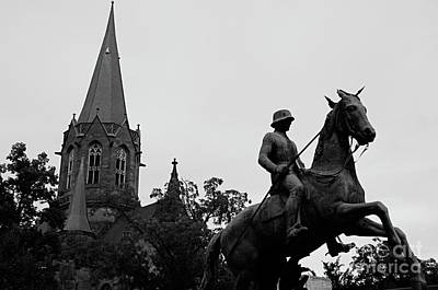 Photograph - Leibdragonerdenkmal Karlsruhe, Germany by Elzbieta Fazel