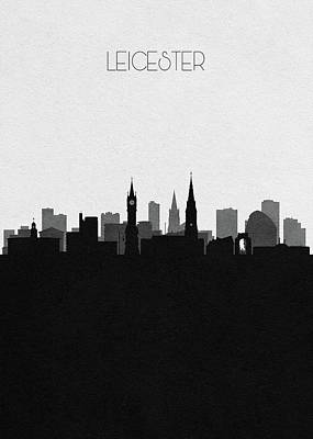 Drawing - Leicester Cityscape Art by Inspirowl Design