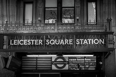 Photograph - Leicester Square Station - London by Georgia Fowler
