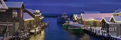 Royalty-Free and Rights-Managed Images - Leland River Lights by Twenty Two North Photography