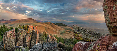 Photograph - Lemhi Mountains Panoramic by Leland D Howard