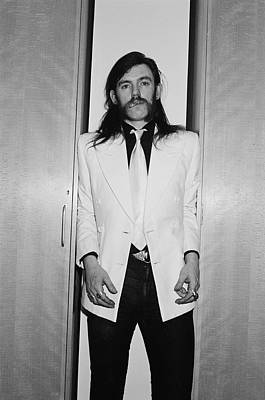 Photograph - Lemmy Squeezed by Fin Costello
