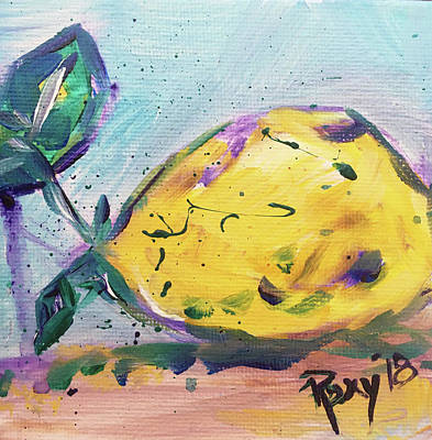 Food And Beverage Painting - Lemon Drop by Roxy Rich