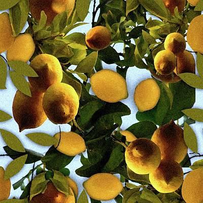 Digital Art - Lemon Tree by Cindy Boyd
