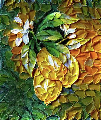 Lemon Mixed Media - Lemons 002 by G Berry