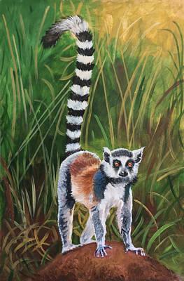 Painting - Lemur in the Wild by Robert Korhonen
