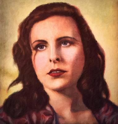 Painting - Leni Riefenstahl Portrait by Vincent Monozlay