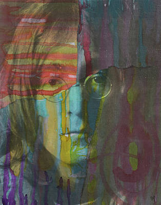 Painting - Lennon Dript by Dean Russo Art