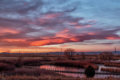 Photograph - Lenticular Clouds At Sunrise On The Front Range by Tony Hake