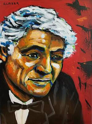 Wall Art - Painting - Leonard Bernstein by Stuart Glazer