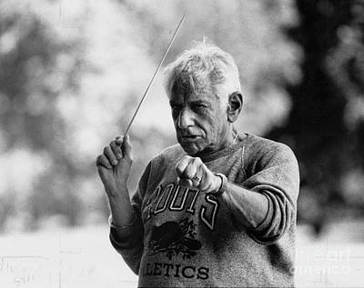 Photograph - Leonard Bernstein Warms Up The New York by New York Daily News Archive