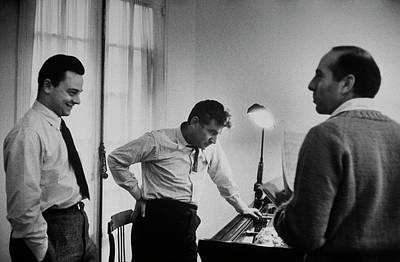 New York City Photograph - Leonard Bernsteinjerome Robbinsstephen by Alfred Eisenstaedt