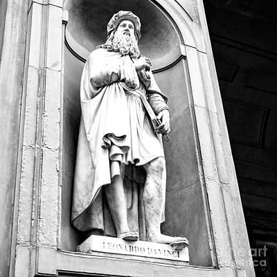 Photograph - Leonardo Uffizi Gallery Florence by John Rizzuto