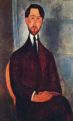 Nirvana - Leopold Zborowski - 1919 - Museu de Arte Moderna de Sao Paulo - Painting - oil on canvas by Modigliani Amedeo