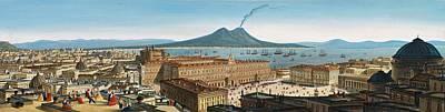 Painting - Leopoldo Calvi - Panorama Von Neapel by Leopoldo Calvi