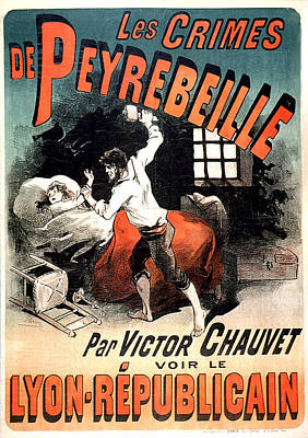 Painting - Les Crimes Des Perebeille Vintage French Advertising by Vintage French Advertising