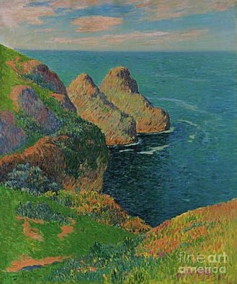Painting - Les Falaises Au Bord De La Mer, 1895 by Henry Moret