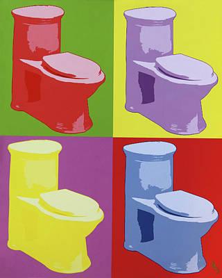 Digital Art - Les Toilettes  by Deborah Boyd